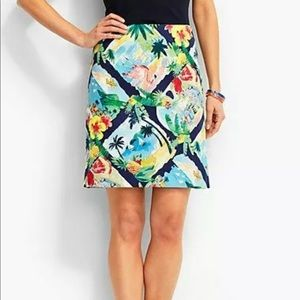 New Talbots Tropical Print Mini Skirt Size 10